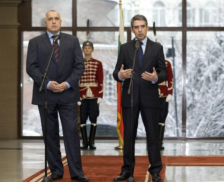 25 января 2012 г. Президент Росен Плевнелиев и премьер Бойко Борисов