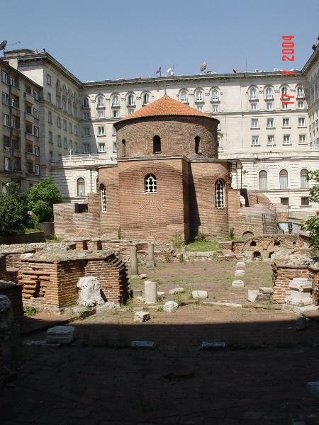 Античная Сердика — Ротонда Святого Георгия и руины резиденции императора Константина I Великого